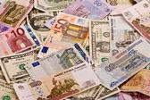 разные деньги — Стоковое фото