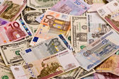 Różne pieniądze — Zdjęcie stockowe