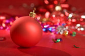 Red christmas ball — Stock Photo