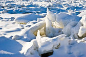 Icy river — Stock Photo