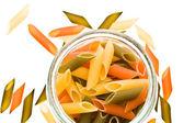 Colored macaroni — Stock Photo
