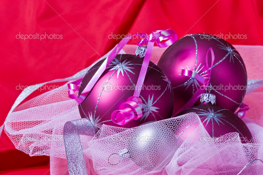 Christmas preparation: still life with holiday`s balls — Stock Photo #1347871