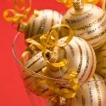 Golden christams ball — Stock Photo