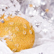 Golden Christmas stars — Stock Photo #1365177