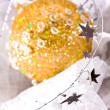 Golden Christmas stars — Stock Photo #1365217
