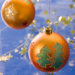 golden christmas ball — Stock Photo