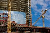 Construction series: new site of a modern building — Foto de Stock