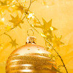 Golden ball — Stock Photo