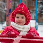 Little girl in winter — Stock Photo #1385249