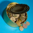 Stock Photo: Tin with coins