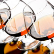 Glasses of cognac — Stock Photo
