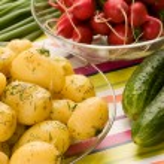 Cooked potatoes — Stock Photo