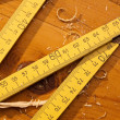 Foto Stock: Wooden Ruler