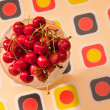 Stock Photo: Cherry dessert