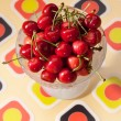 Cherry dessert — Stock Photo