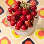 Cherry dessert — Stock Photo