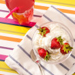 Strawberry dish — Stock Photo