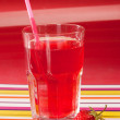 Strawberry beverage — Stock Photo