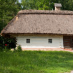 Ukrainian hut — Stock Photo