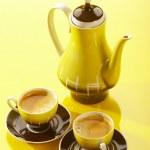 Yellow coffee still life — Stock Photo