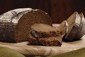 Rye bread slice — Stock Photo