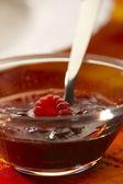 Jam with fresh raspberry — Stock Photo