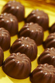 Rows appetizing chocolate bonbon — Stock Photo