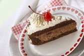 Appetizing chocolate cake — Stock Photo