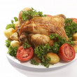 Roasted chicken #2 — Stock Photo