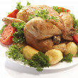 Roasted chicken - Stock Photo