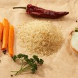Stock Photo: Cook rice