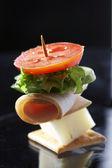 Refeição ligeira - sanduíche de queijo — Foto Stock