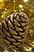 Golden strobile — Stock Photo