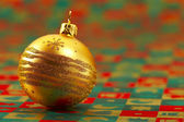 Golden festive ball — Foto de Stock