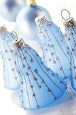 Sino de natal azul — Foto Stock