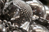 Christmas silver background — Stock Photo