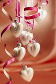 Christmas hearts — Stock Photo