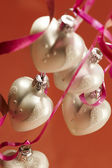 Christmas heart decoration — Stock Photo
