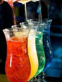 Barevný koktejl — Stock fotografie