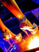 V nočním klubu — Stock fotografie