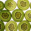 Kiwi background — Stock Photo