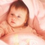 Sentimental portrait of little baby — Stock Photo