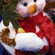 Snow man decoration — Stock Photo