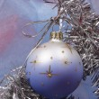 Xmas ball on silver fir — Stock Photo