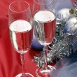 New years' champagne — Stock Photo