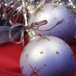 X-mas decorated bauble — Stock Photo