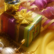Stock Photo: Christmas decoration with gift box