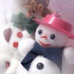 Christmas decorated snow man — Stock Photo #1474418