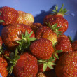 Stock Photo: Strawberry in blue bowl