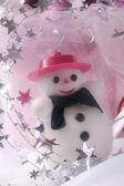 Xmas still life with snow man — Stock Photo